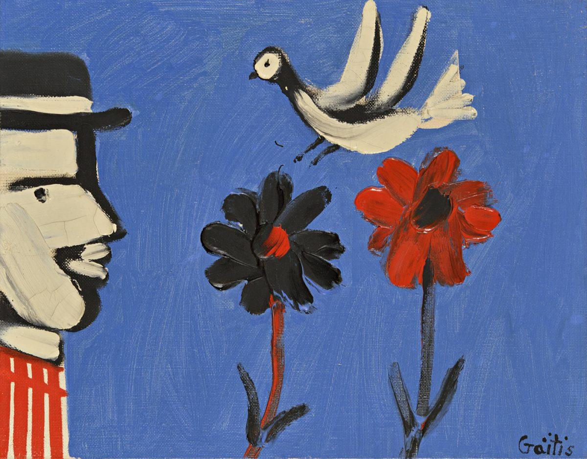 Έργο του Γιάννη Γαΐτη από τη Συλλογή Τσιγκόγλου (φωτ. Τελλόγλειο Ίδρυμα Τεχνών ΑΠΘ).