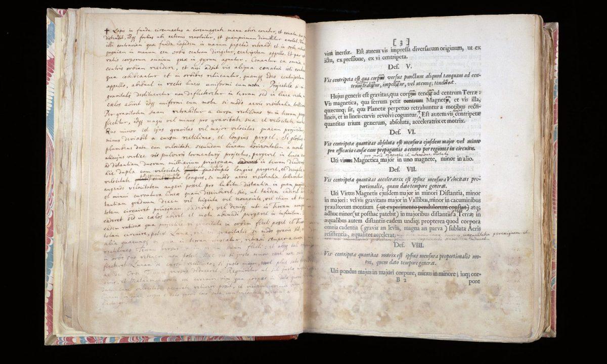 Πρώτη έκδοση του βιβλίου του Νεύτωνα «Principia Mathematica». Πηγή: Cambridge University Library.