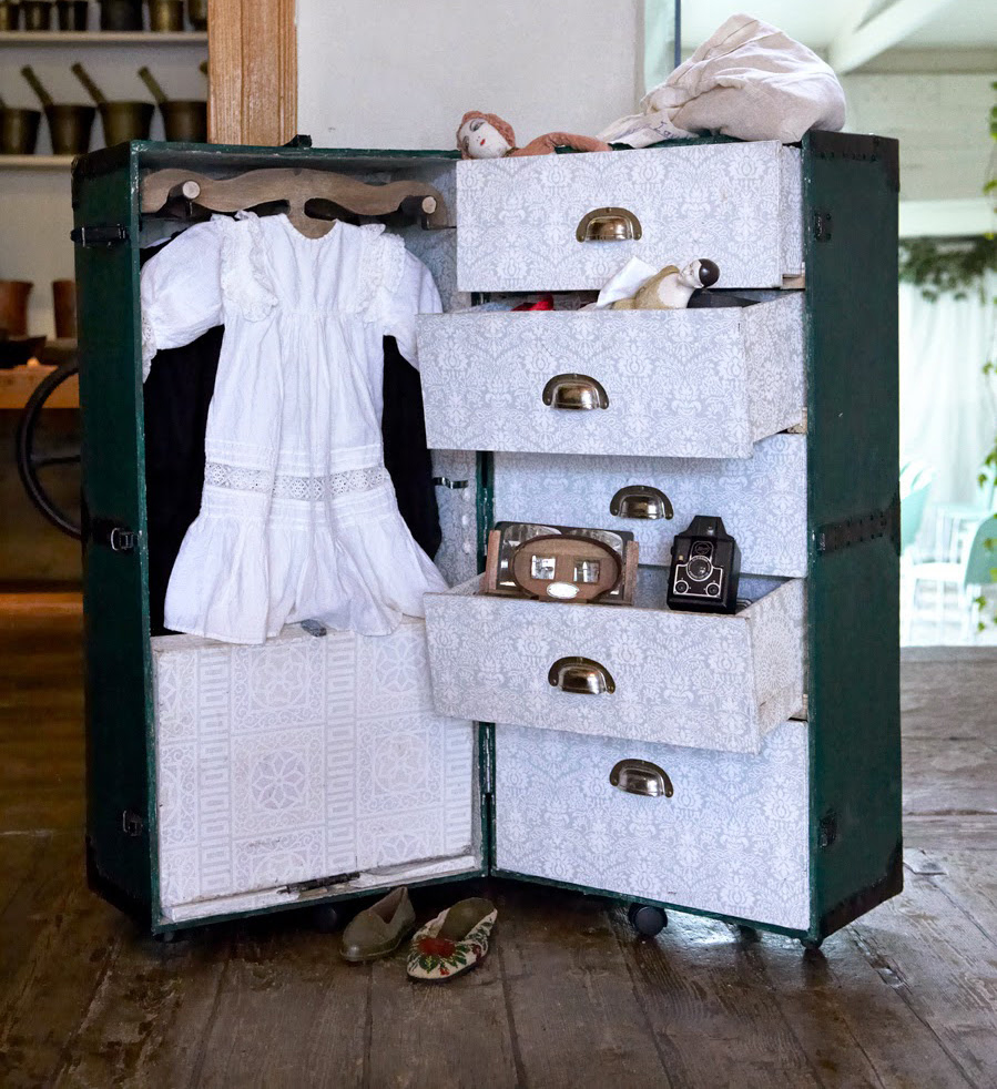 Στο πλαίσιο του εκπαιδευτικού προγράμματος αυθεντικά αντικείμενα από το 1880-1960 είναι στη διάθεση των παιδιών για επεξεργασία και χρήση.