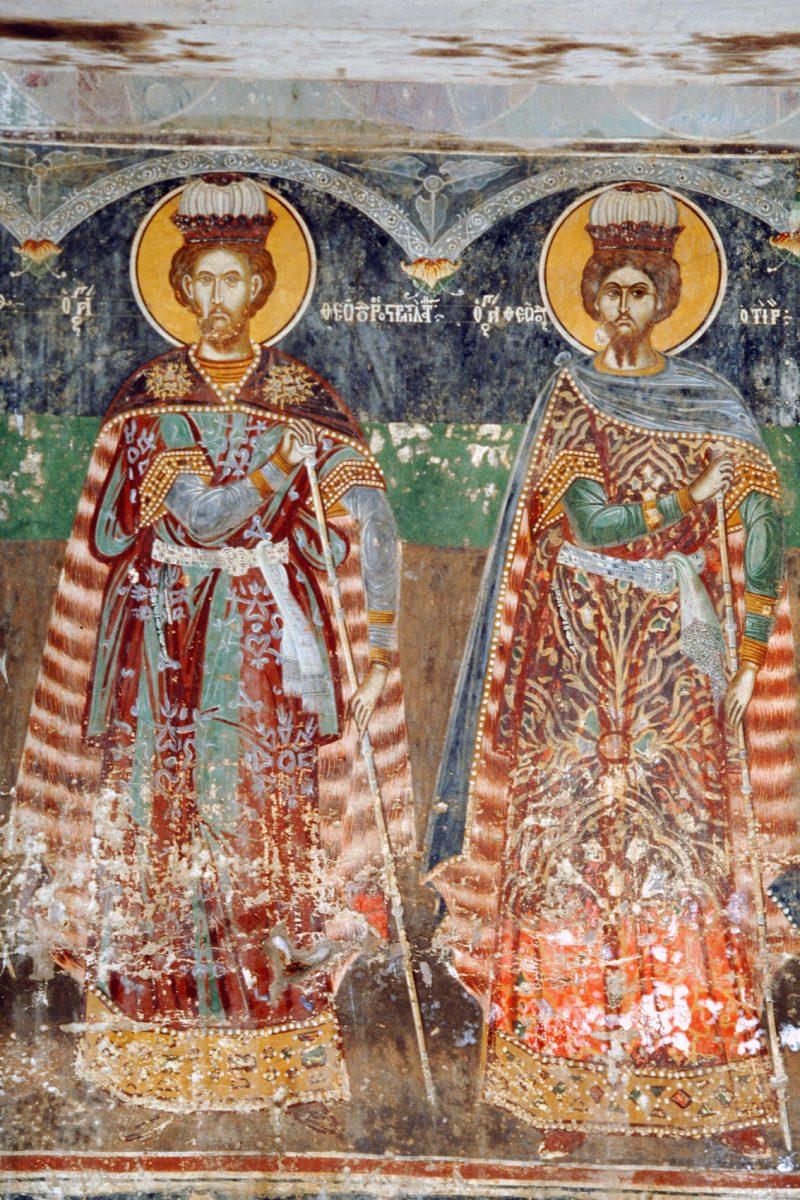 Εικ. 12. Ναός Αγίου Δημητρίου στα Παλατίτσια Ημαθίας. Οι άγιοι Θεόδωροι.