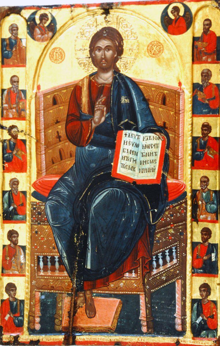 Εικ. 14. Εικόνα Χριστού Παντοκράτορα από τη Μονή Μακρυαλέξη Ν. Ιωαννίνων. Ζωγράφος Μιχαήλ από Λινοτόπι, 1593.