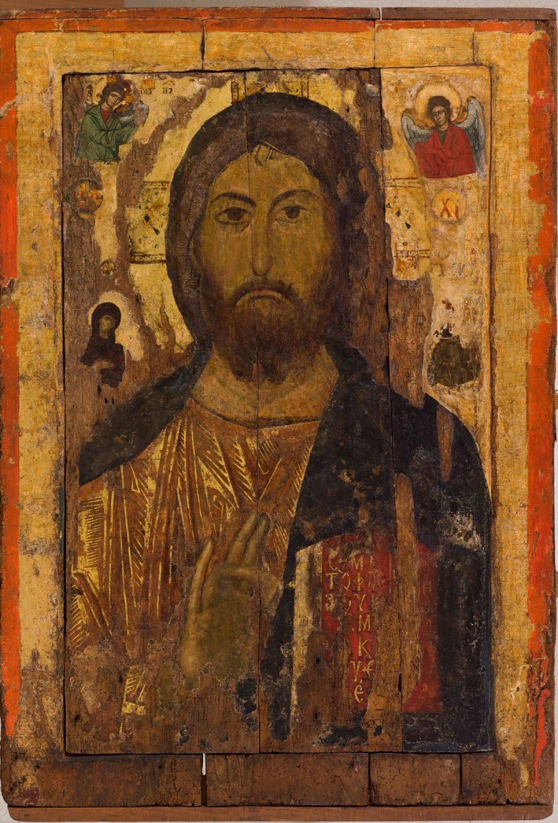 Εικ. 17α. Εικόνα Χριστού Παντοκράτορα από το ναό του Αγίου Στεφάνου στη Μεσημβρία της Βουλγαρίας, 11ος αι.