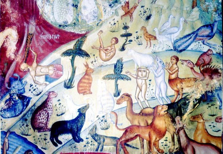Εικ. 20. Ναός Αγίου Νικολάου στη Βίτσα Ζαγορίου. Ζωγράφος Μιχαήλ από Λινοτόπι, 1618–1619.  Οι Αίνοι (νότιο τμήμα).