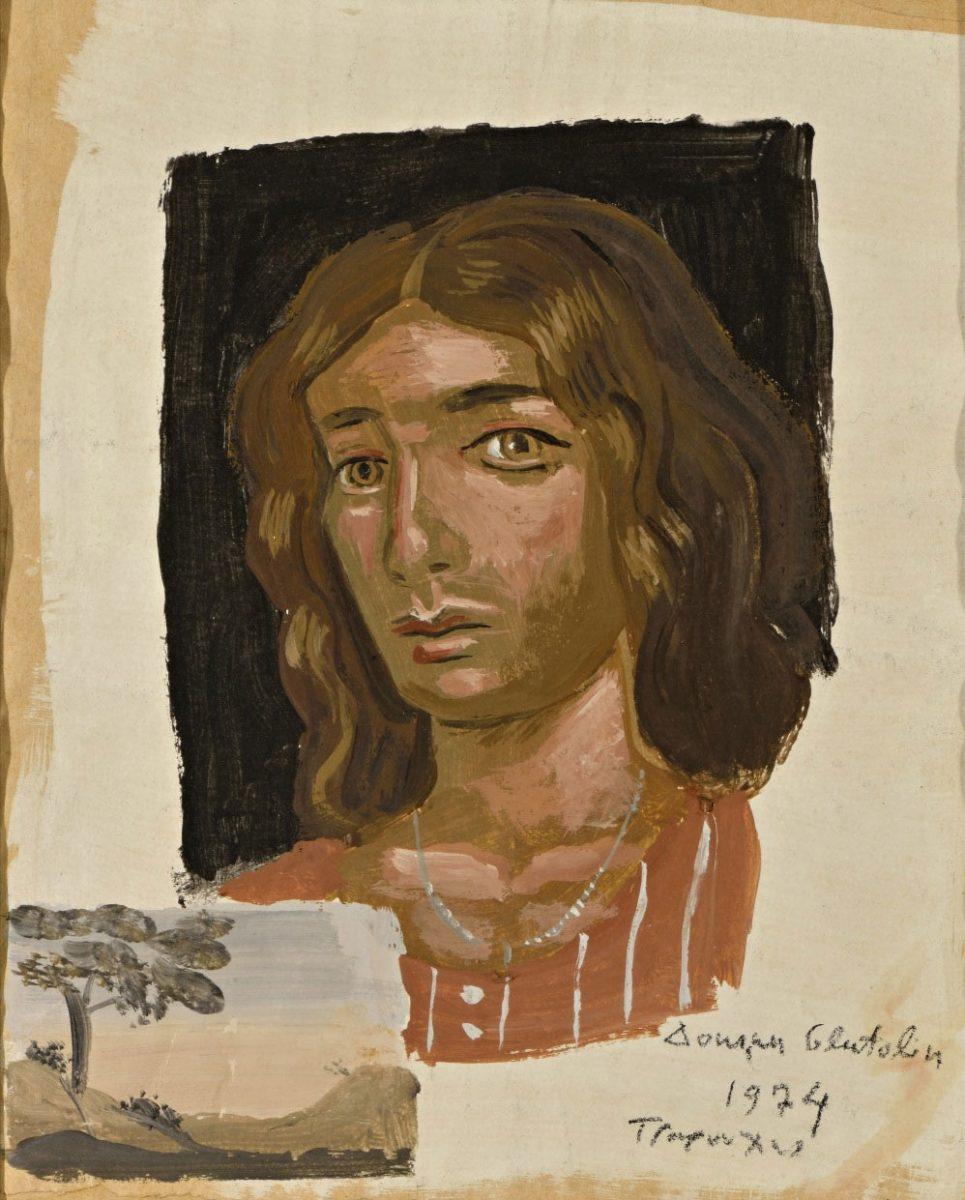 Έργο του Γιάννη Τσαρούχη από τη Συλλογή Τσιγκόγλου (φωτ. Τελλόγλειο Ίδρυμα Τεχνών).