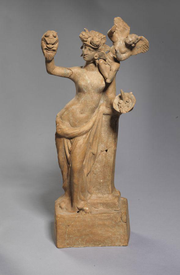 Αφροδίτη και Έρωτας. Μέσα 2ου αι. π.Χ. Βέροια.