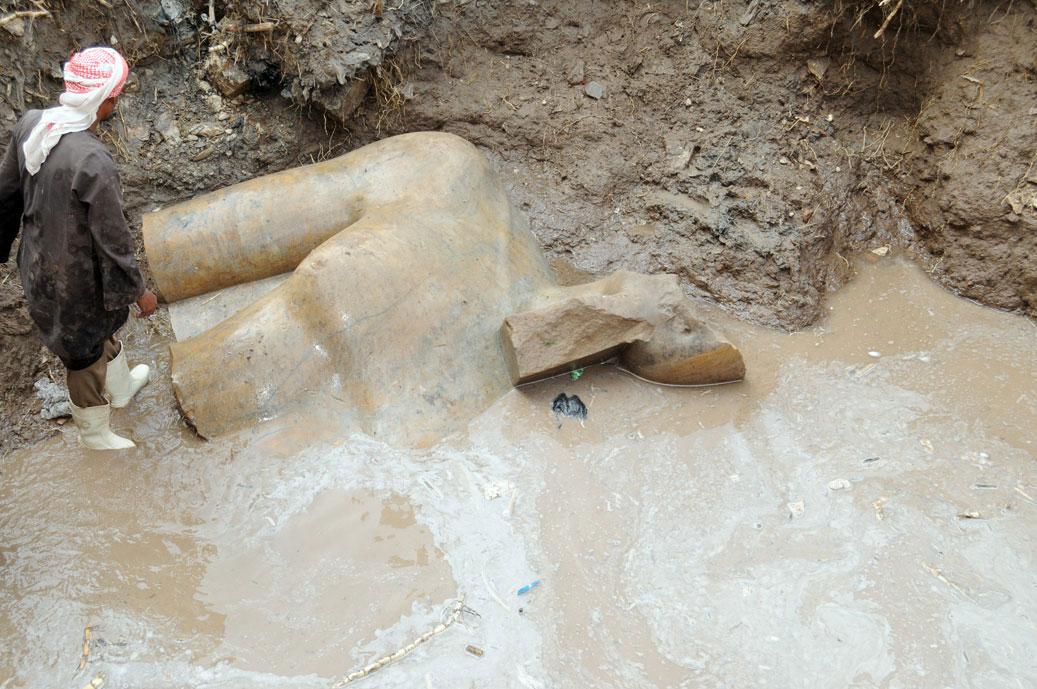 Το άγαλμα που πιθανότατα απεικονίζει τον φαραώ Ραμσή Β'.