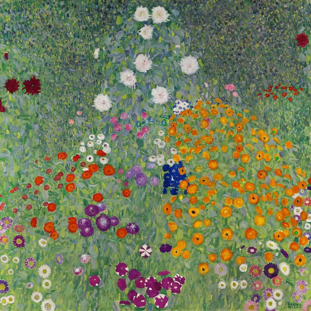 Γκούσταβ Κλιμτ, «Ο κήπος με τα λουλούδια», 1907.