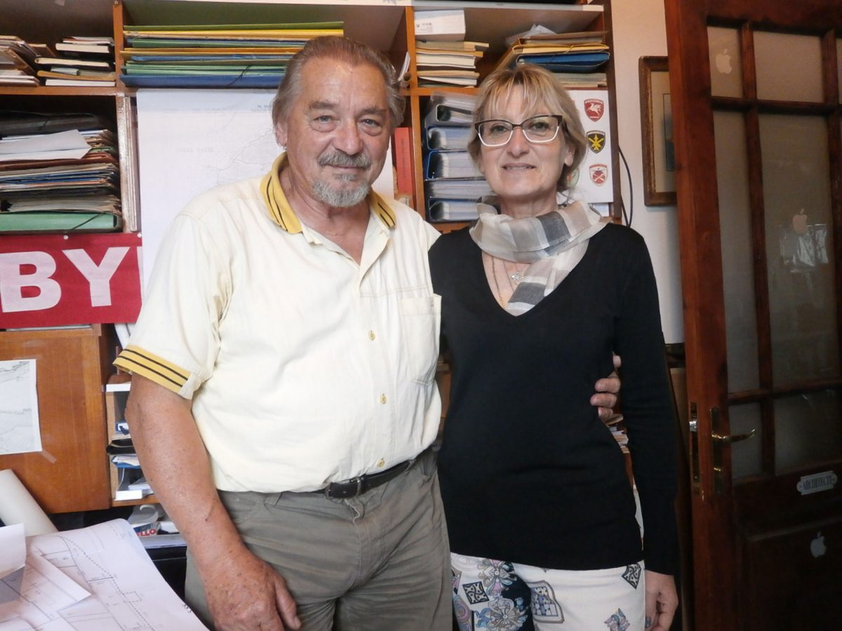 Ο Tony και η Manuela Wurch–Kozelj (φωτ. ΑΠΕ-ΜΠΕ).
