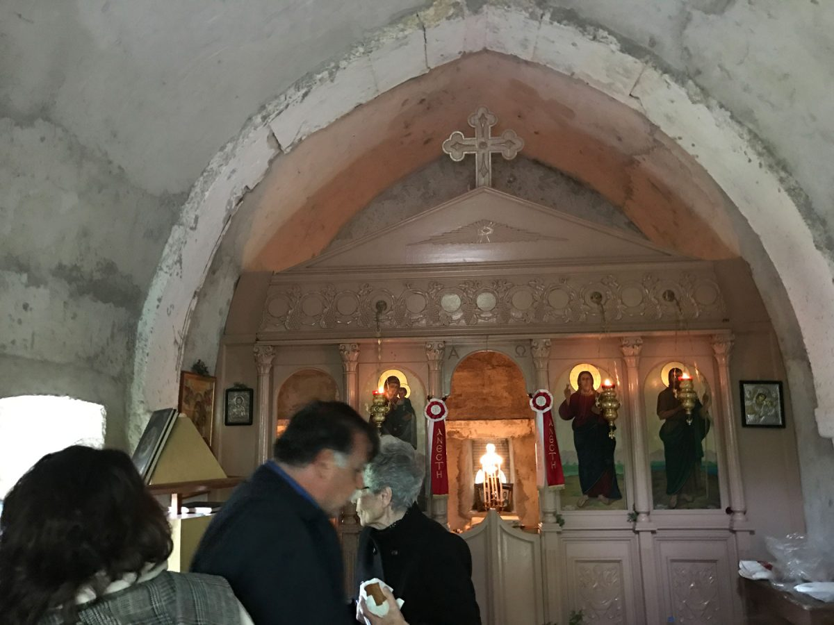 Εσωτερικό του ιερού ναού της Ζωοδόχου Πηγής.