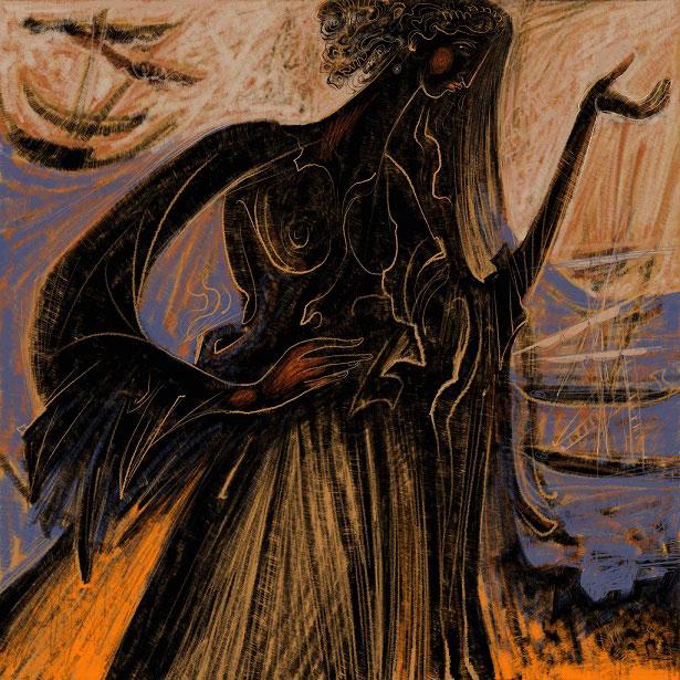 Έργο του Γ. Κόρδη από τη σειρά «Ομηρικά ακρογιάλια» (© Γιώργος Κόρδης, ευγενική παραχώρηση του ίδιου).