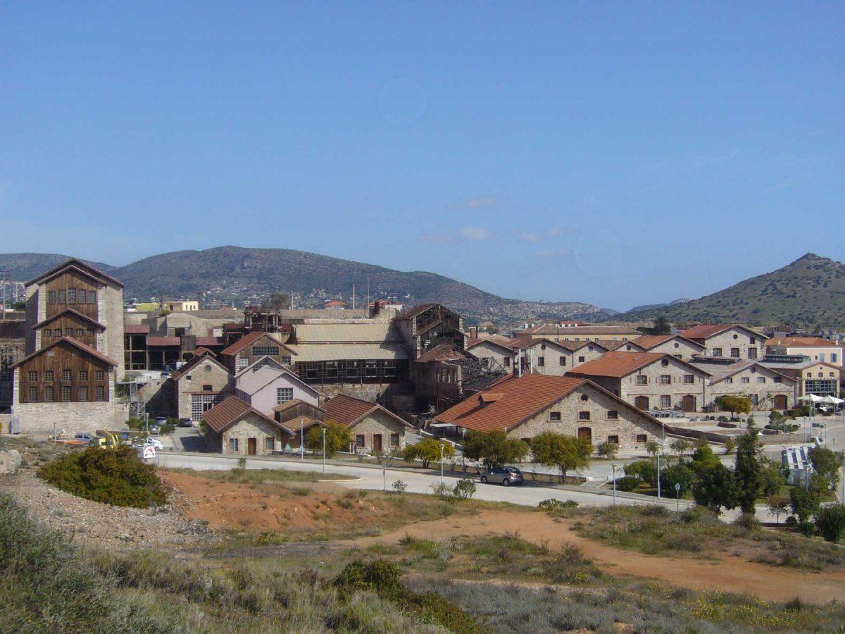 Συνολική άποψη των κτιρίων του Τεχνολογικού και Πολιτιστικού Πάρκου Λαυρίου (φωτ.: ΑΠΕ-ΜΠΕ / Νίκος Μπελαβίλας).