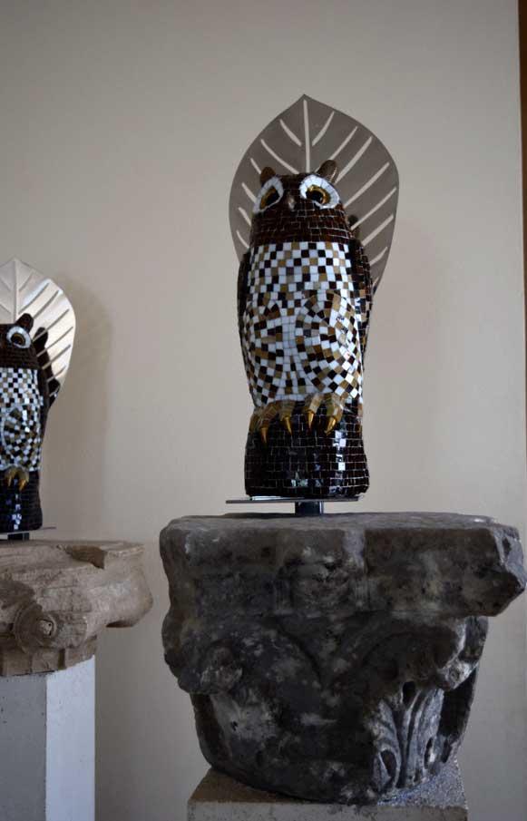 Εγκατάσταση της Αφροδίτης Λίτη στο ισόγειο του Αρχαιολογικού Μουσείου Πόρου.