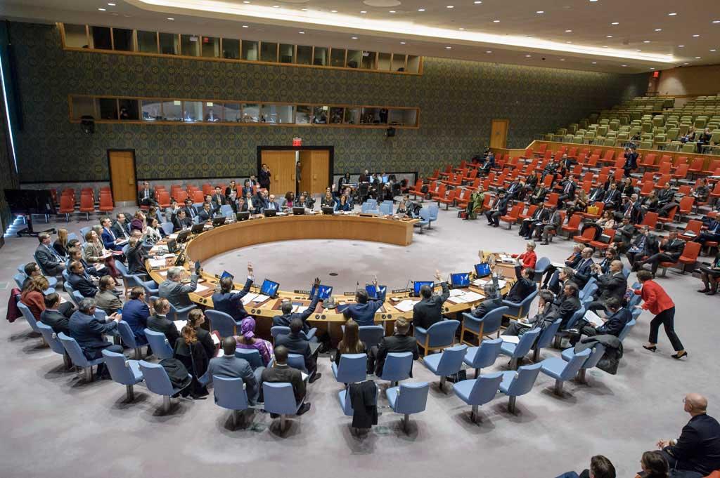 Εικ. 1. Το Συμβούλιο Ασφαλείας υιοθετεί ομόφωνα το ψήφισμα 2347 (2017), καταδικάζοντας την παράνομη καταστροφή της πολιτιστικής κληρονομιάς στo πλαίσιo των ένοπλων συγκρούσεων, ιδίως από τρομοκρατικές ομάδες.