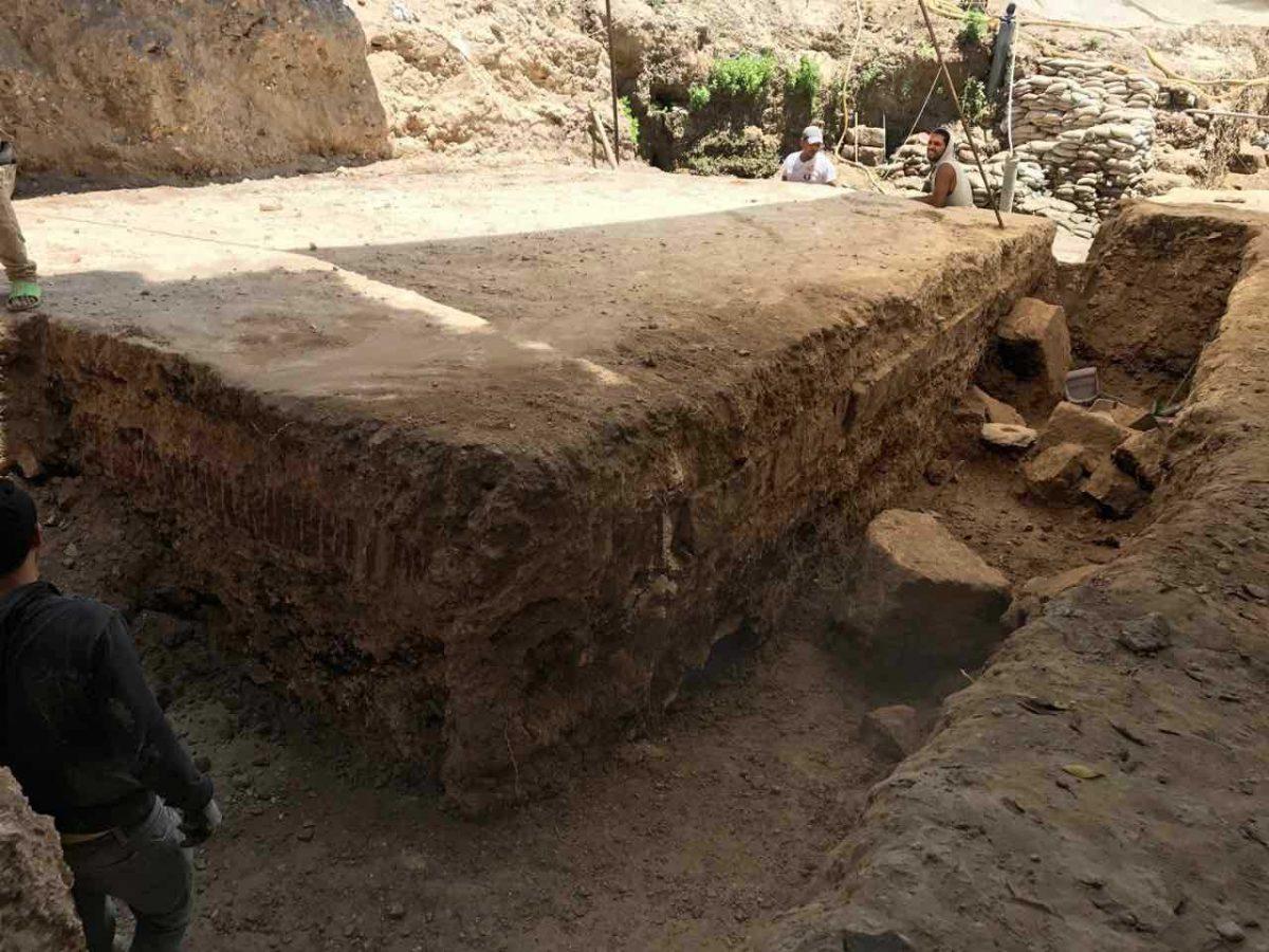 Άποψη της ανασκαφής στους Κήπους Σαλαλάτ, στην Αλεξάνδρεια της Αιγύπτου (φωτ.: ΑΠΕ-ΜΠΕ).