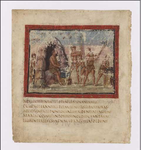 Εικ. 2. Εικονογραφημένο χειρόγραφο. Βιβλιοθήκη Βατικανού. Πηγή φωτογραφίας: Ψηφιακή Βιβλιοθήκη Βατικανού.