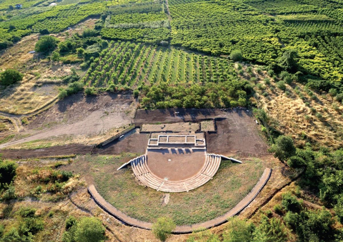 Το αρχαίο θέατρο της Μίεζας (φωτ.: ΑΠΕ-ΜΠΕ).