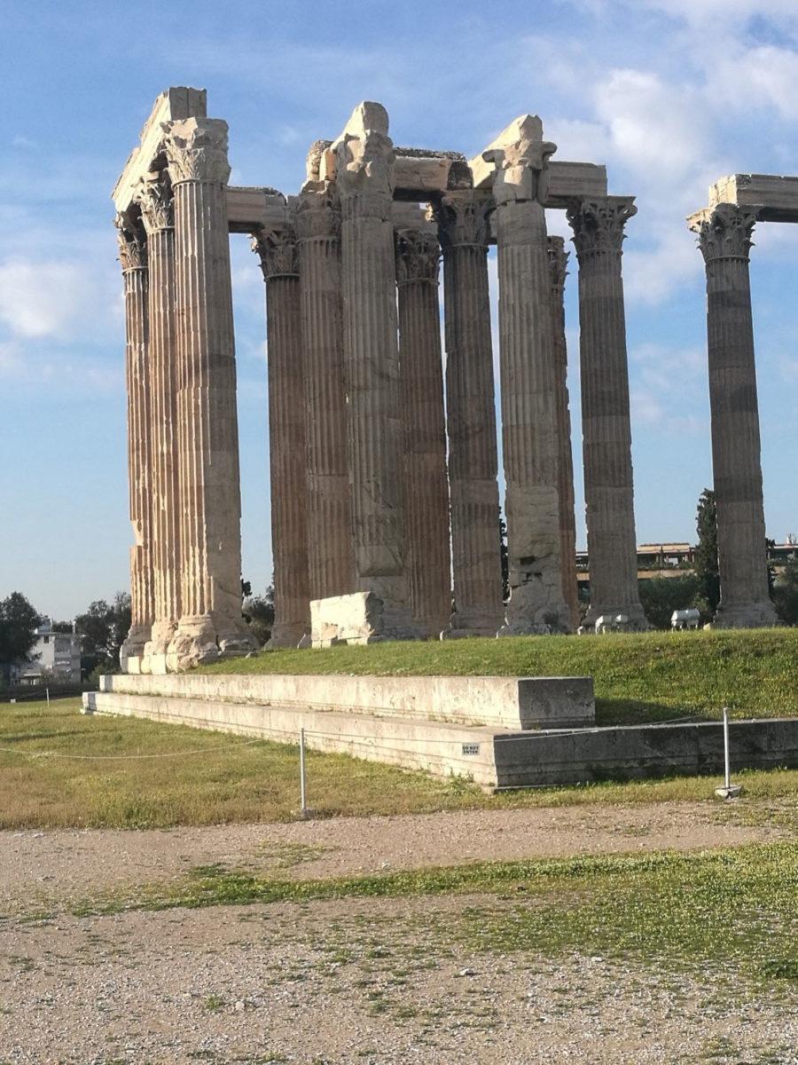 Ο Ναός του Ολυμπίου Διός, ένα από τα σημαντικότερα και αρχαιότερα ιερά της Αθήνας (φωτ.: Εφορεία Αρχαιοτήτων Αθηνών).