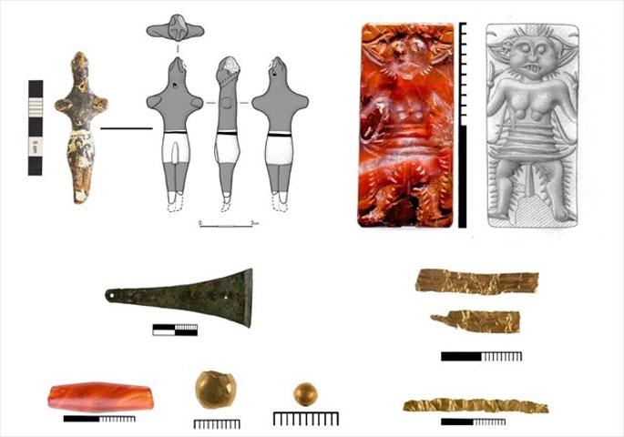 Ευρήματα από την ανασκαφή στον Πετρά Σητείας (φωτ.: ΥΠΠΟΑ).