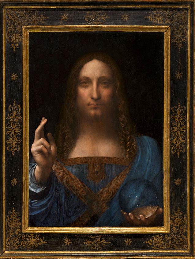 «Ο Σωτήρας του Κόσμου», έργο του Λεονάρντο Ντα Βίντσι (φωτ.: Christie's).