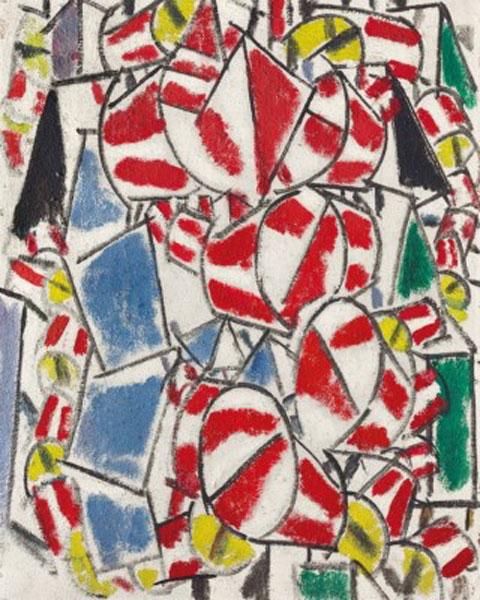 Φερνάν Λεζέ, «Contraste de formes», 1913.