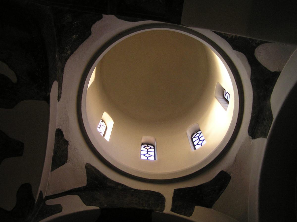Εικ. 18. Ο φωτισμός του δυτικού τρουλίσκου (ώρα 17:12, Φεβρουάριος).