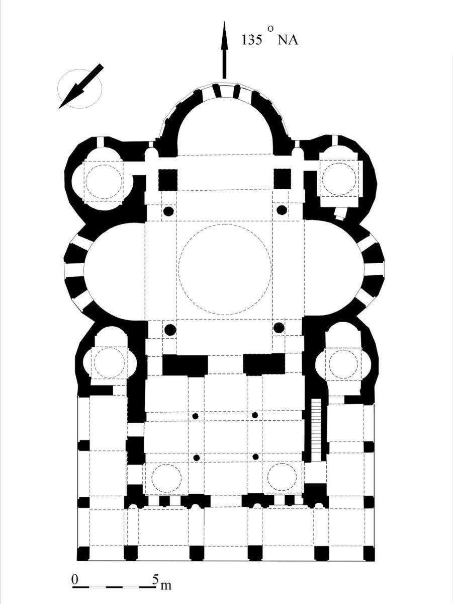 Εικ. 2. Ο ναός του Προφήτη Ηλία. Κάτοψη. Αρχείο Εφορείας Αρχαιοτήτων Πόλης Θεσσαλονίκης.