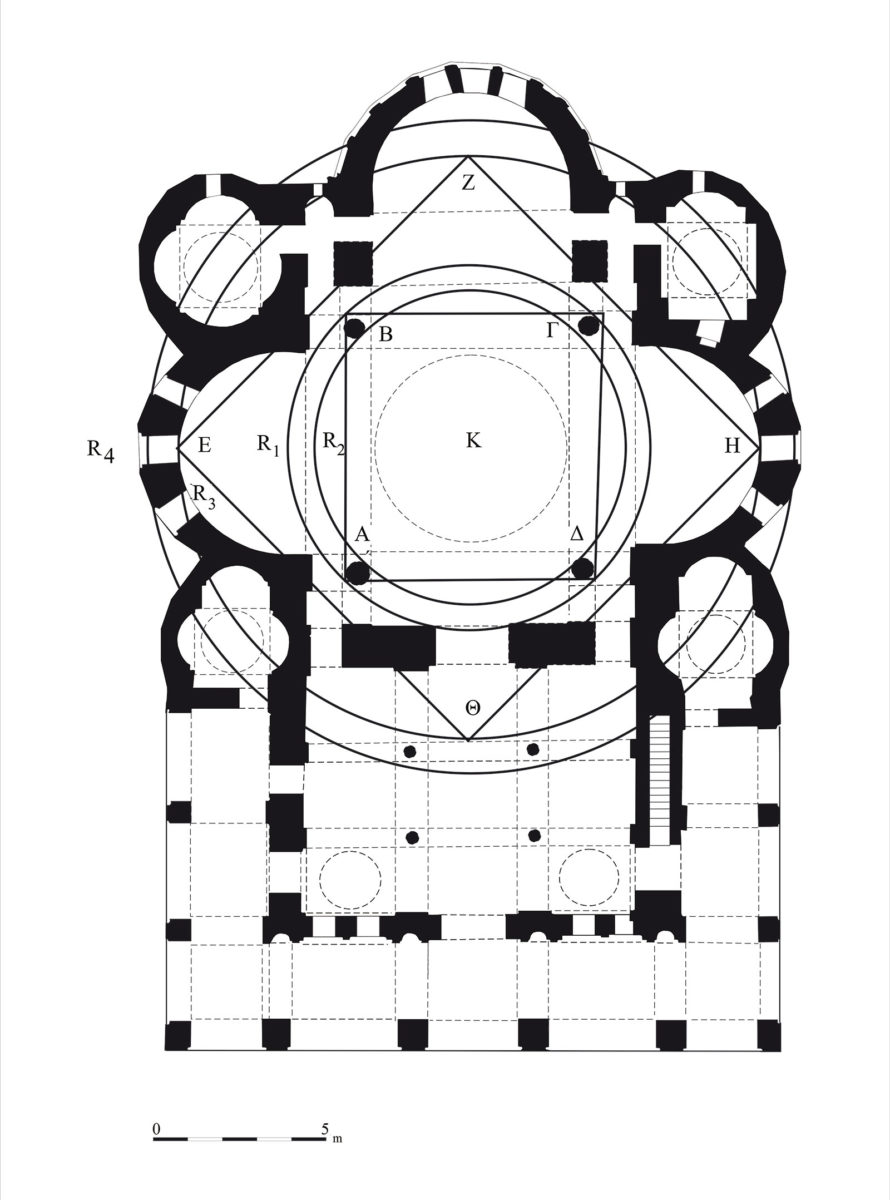 Εικ. 6. Κάτοψη. Γεωμετρικός σχεδιασμός.