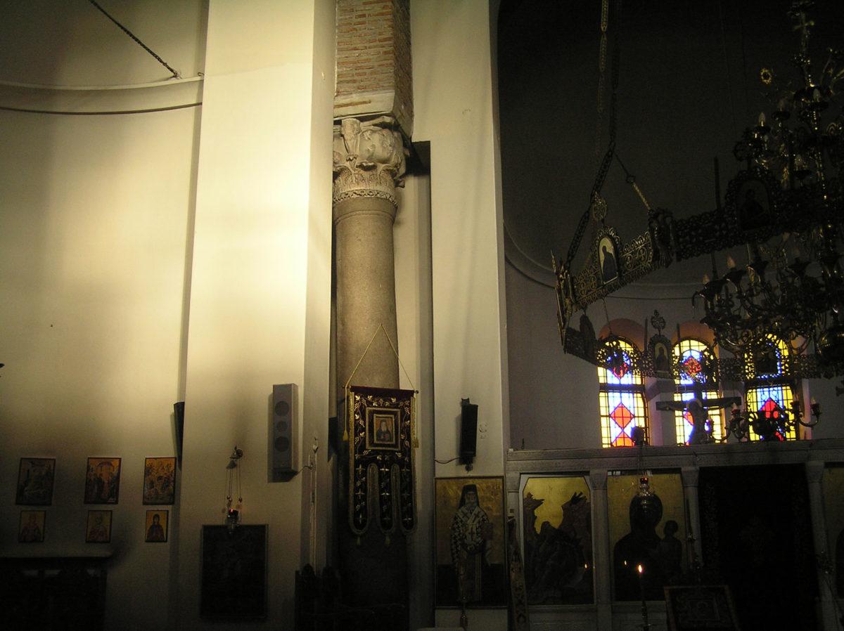 Εικ. 9. Ο φωτισμός της βόρειας κόγχης και του ανατολικού κίονα (ώρα 18:27, Μάιος – Ιούνιος).