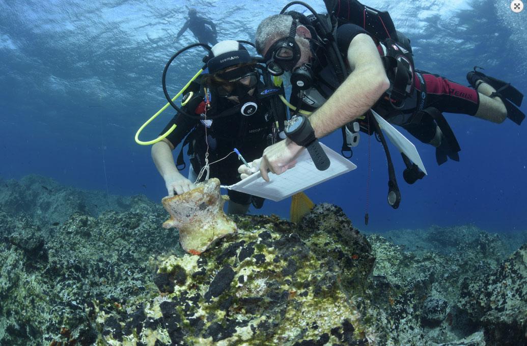 Από τις υποβρύχιες έρευνες στις νότιες ακτές της Νάξου. Φωτ.: Εφορεία Εναλίων Αρχαιοτήτων / Πανεπιστήμιο Όσλο.