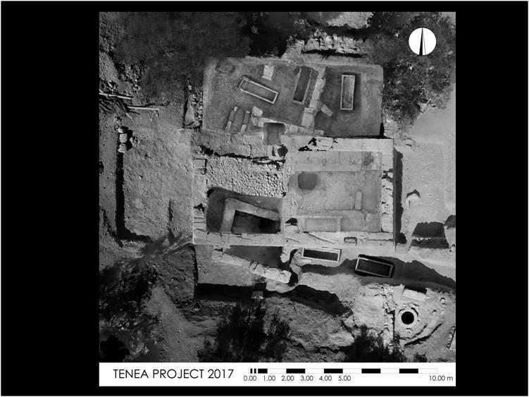 Άποψη του ανεσκαμμένου χώρου στην Αρχαία Τενέα (φωτ.: ΥΠΠΟΑ).