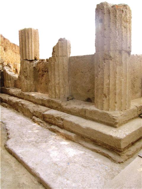 Τμήμα του Ασκληπιείου της αρχαίας Θουρίας.