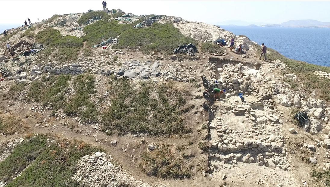 Αεροφωτογραφία του Δασκαλιού (πηγή: ΥΠΠΟΑ/Βρετανική Σχολή Αθηνών).