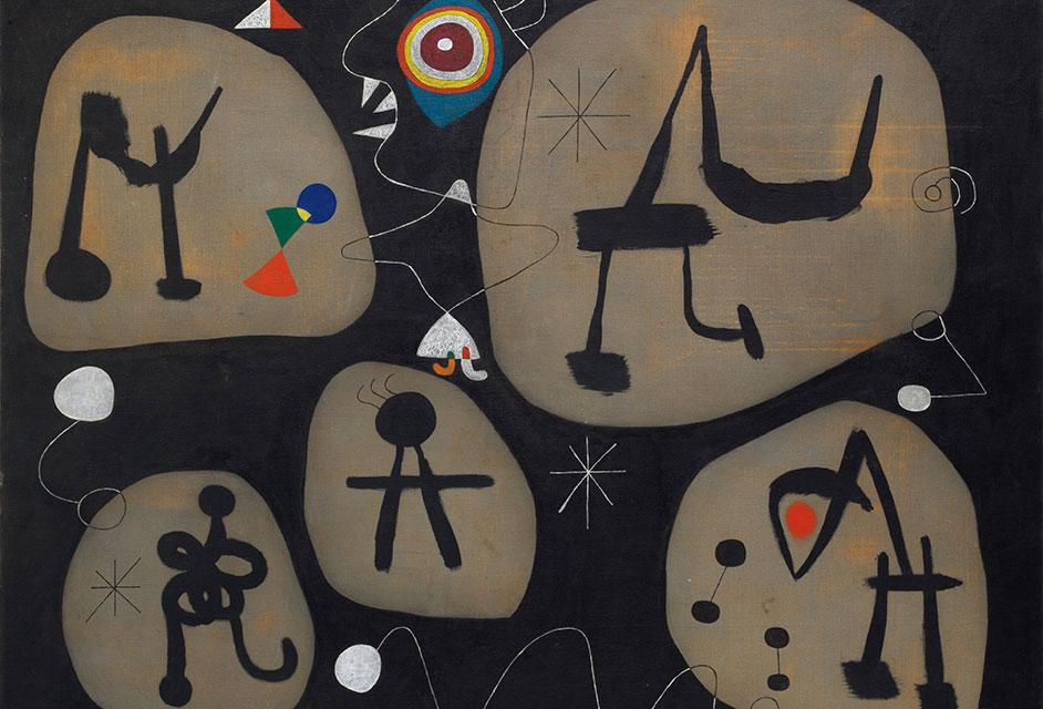 Χουάν Μιρό, «Γυναίκα που ακούει μουσική», 1945. Φωτ.: © Successió Miró / Artists Rights Society.