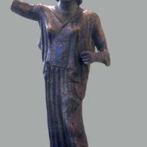Χάλκινο ειδώλιο της θεάς Αθηνάς, 5ος αι. π.Χ. Αρχείο ΕΦΑ.ΛΑΚ.