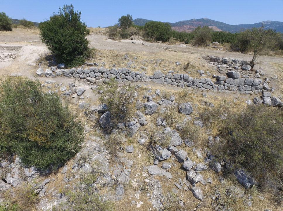 Η μυκηναϊκή κυκλώπεια οχύρωση (φωτ.: ΥΠΠΟΑ).