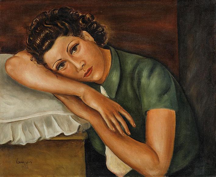 Ορέστης Κανέλλης, «Η Ηρώ», 1937, ελαιογραφία σε καμβά. Συλλογή της Τράπεζας της Ελλάδος.