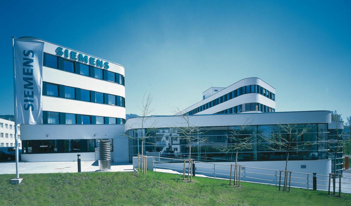 Κτήριο γραφείων Siemens-Kasern στο Σάλτσμπουργκ, 1998-2000.