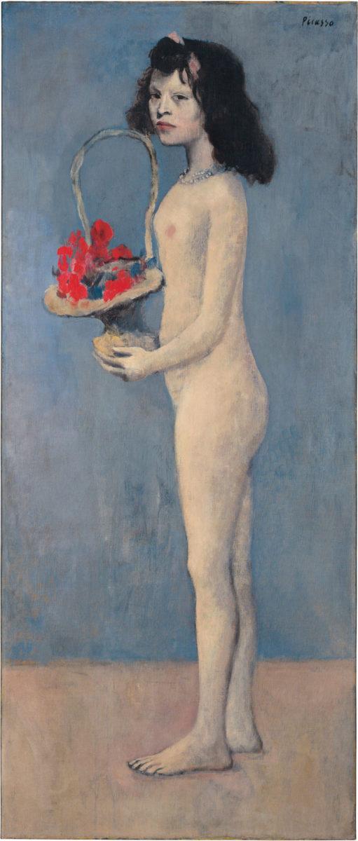 «Fillette à la corbeille fleurie», έργο του Πάμπλο Πικάσο (1905). Φωτ.: Christie's.
