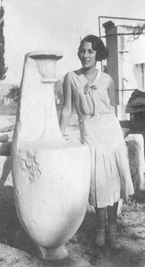 Η αρχαιολόγος Mary Ross-Ellingson (φωτ.: ΑΠΕ-ΜΠΕ).