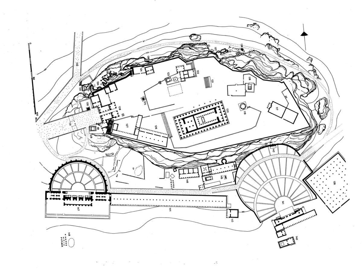 Εικ. 5. Οριζοντιογραφία της Ακρόπολης.