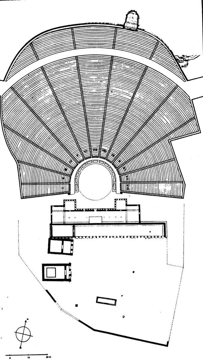 Εικ. 6. Αναπαράσταση του κοίλου του Θεάτρου του Διονύσου κατά Θάνο Παπαθανασόπουλο.