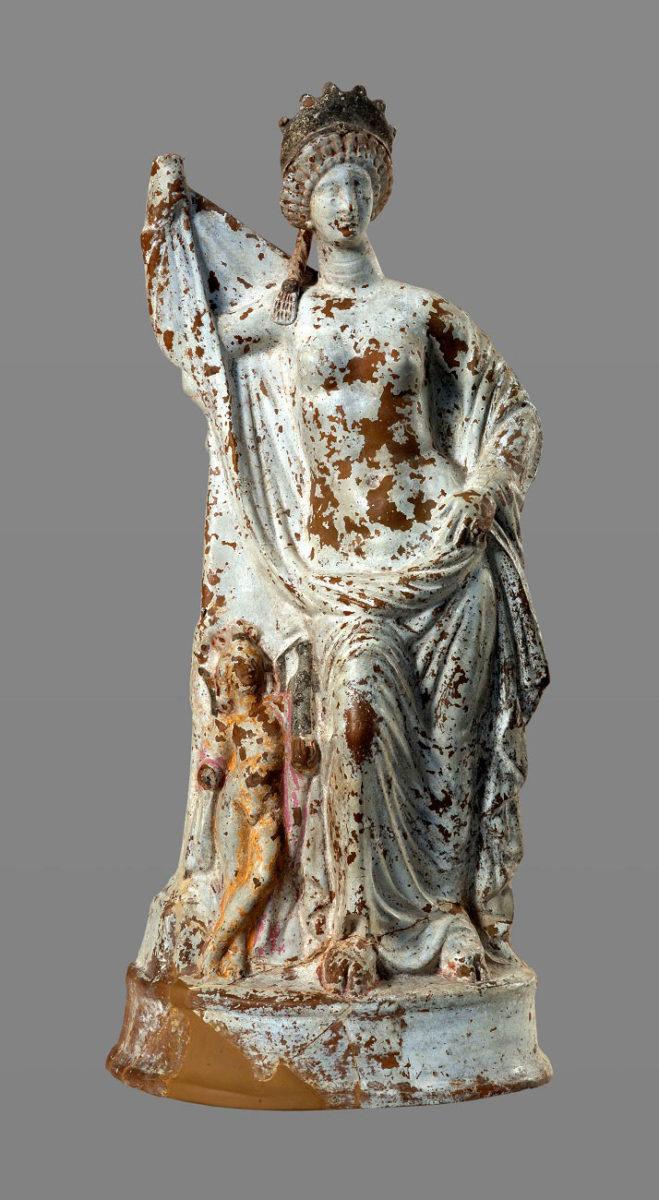 Πήλινο αγαλμάτιο της θεάς Αφροδίτης (Ύστερος 2ος/1ος αι. π.Χ.). © ΕΑΜ/ΤΑΠ. Φωτ.: Σ. Μαυρομμάτης.
