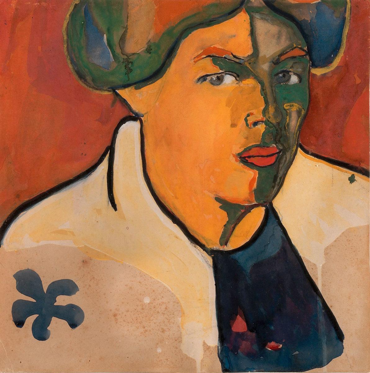 Καζιμίρ Μαλέβιτς, «Γυναικείο πορτρέτο», περ. 1910-1911, γκουάς σε χαρτόνι, 27,7x27,8 εκ. (Πηγή: ΚΜΣΤ-Συλλογή Κωστάκη).