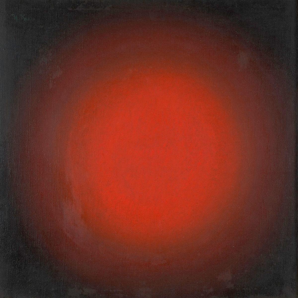 Ιβάν Κλιούν, «Κόκκινο φως. Σφαιρική σύνθεση», 1923, λάδι σε καμβά, 68,3x67,7 εκ. (Πηγή: ΚΜΣΤ-Συλλογή Κωστάκη).