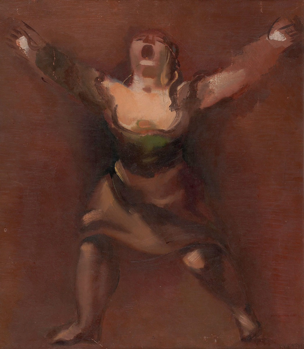 Σολομών Νικρίτιν, «Γυναίκα που ουρλιάζει», 1928, λάδι σε καμβά, 60,7x51,8 εκ. (Πηγή: ΚΜΣΤ-Συλλογή Κωστάκη).