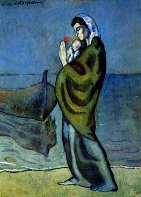 Πάμπλο Πικάσο, «Μaternité au bord de la mer».
