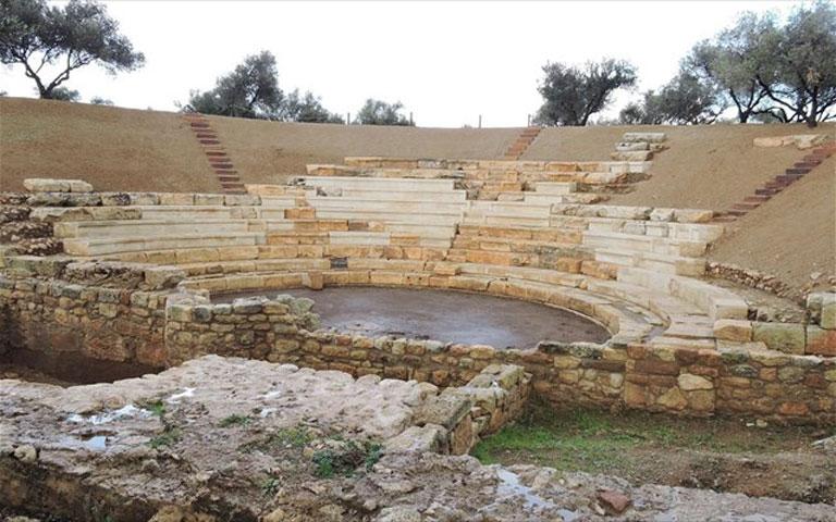 Το αρχαίο θέατρο της Απτέρας (φωτ.: ΑΠΕ-ΜΠΕ).