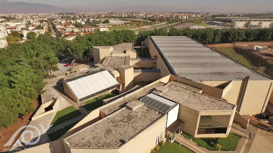 Το Διαχρονικό Μουσείο Λάρισας, αεροφωτογραφία (φωτ.: Διαχρονικό Μουσείο Λάρισας).