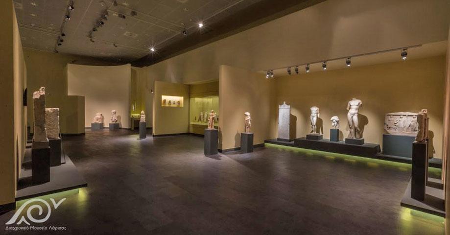 Εκθέματα της Ρωμαϊκής περιόδου στο Διαχρονικό Μουσείο Λάρισας (φωτ.: Διαχρονικό Μουσείο Λάρισας).