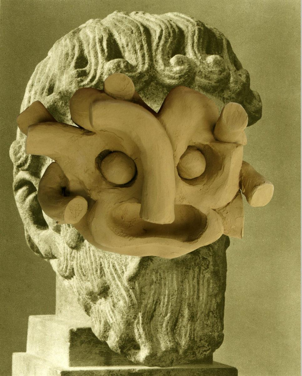 Έργο του HOPE από την έκθεση «Μy sons, too young then» στο Αρχαιολογικό Μουσείο Άνδρου.